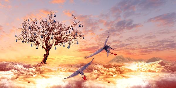 2anne le ciel et arbre 200sur 120